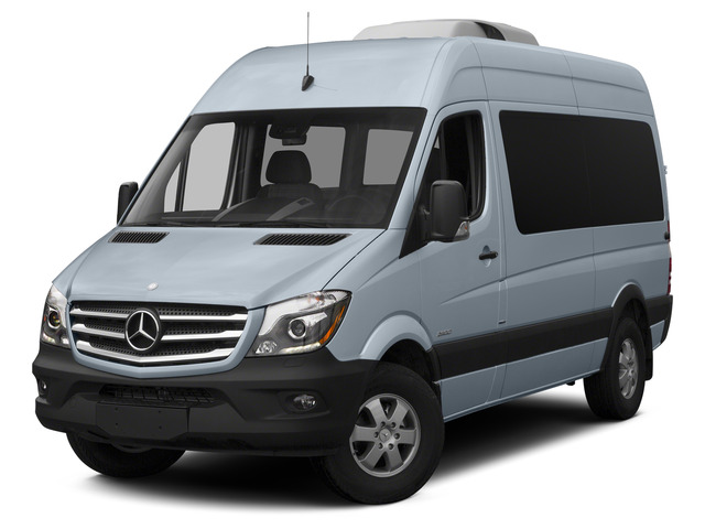 Blue Gray 2015 Mercedes-Benz Sprinter Passenger Vans Pictures Sprinter Passenger Vans Passenger Van High Roof 4WD photos front view