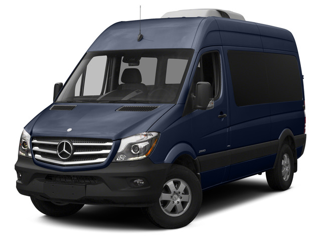 Cavansite Blue Metallic 2015 Mercedes-Benz Sprinter Passenger Vans Pictures Sprinter Passenger Vans Passenger Van High Roof 4WD photos front view
