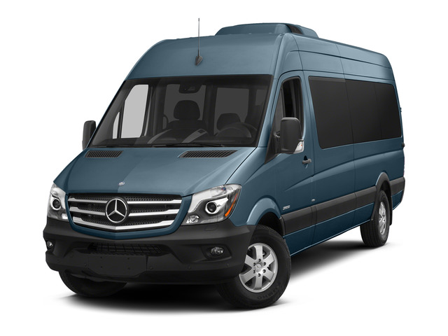 Brilliant Blue 2015 Mercedes-Benz Sprinter Passenger Vans Pictures Sprinter Passenger Vans Extended Passenger Van High Roof 4WD photos front view
