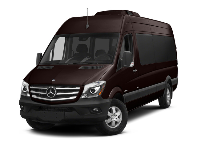 Earth Brown 2015 Mercedes-Benz Sprinter Passenger Vans Pictures Sprinter Passenger Vans Extended Passenger Van High Roof 4WD photos front view