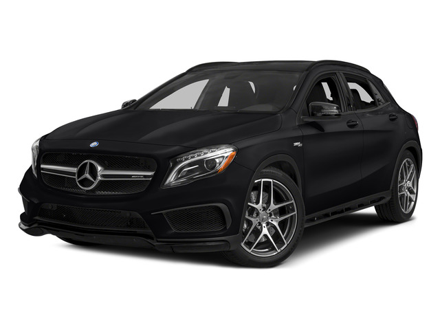 Cosmos Black Metallic 2015 Mercedes-Benz GLA-Class Pictures GLA-Class Utility 4D GLA45 AMG AWD I4 Turbo photos front view