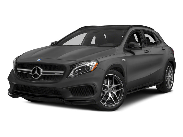 designo Mountain Gray Magno 2015 Mercedes-Benz GLA-Class Pictures GLA-Class Utility 4D GLA45 AMG AWD I4 Turbo photos front view