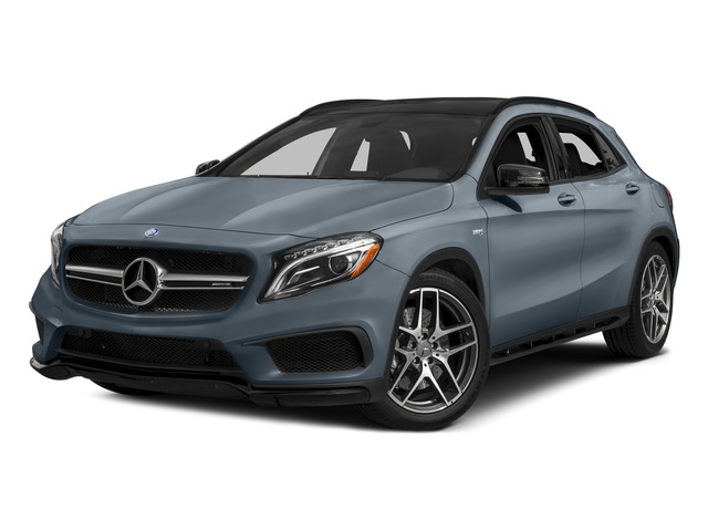 Universe Blue Metallic 2015 Mercedes-Benz GLA-Class Pictures GLA-Class Utility 4D GLA45 AMG AWD I4 Turbo photos front view