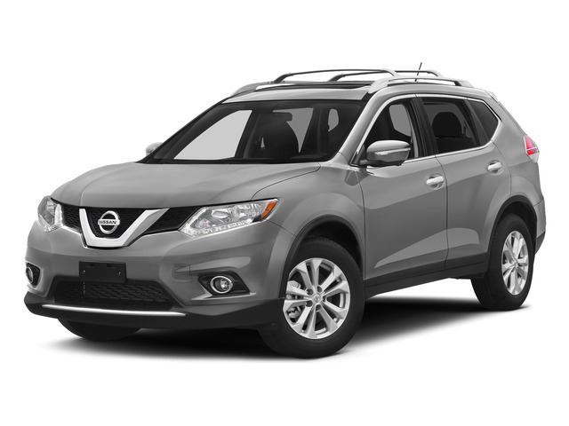 Brilliant Silver 2015 Nissan Rogue Pictures Rogue Utility 4D SV AWD I4 photos front view