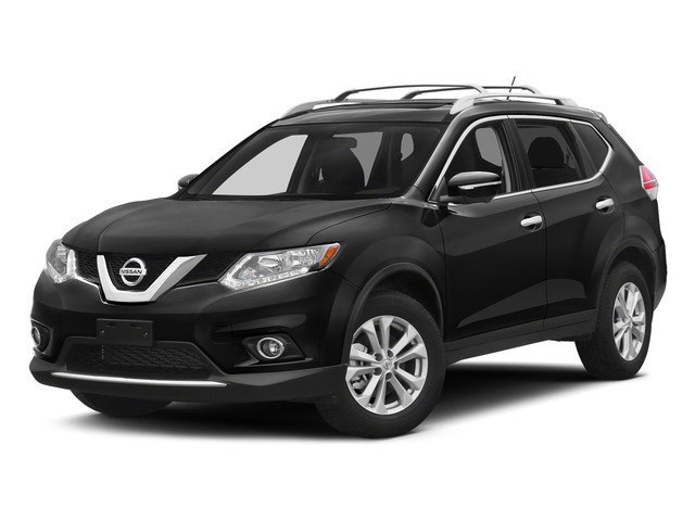 Super Black 2015 Nissan Rogue Pictures Rogue Utility 4D SV AWD I4 photos front view
