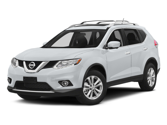 Glacier White 2015 Nissan Rogue Pictures Rogue Utility 4D SV AWD I4 photos front view