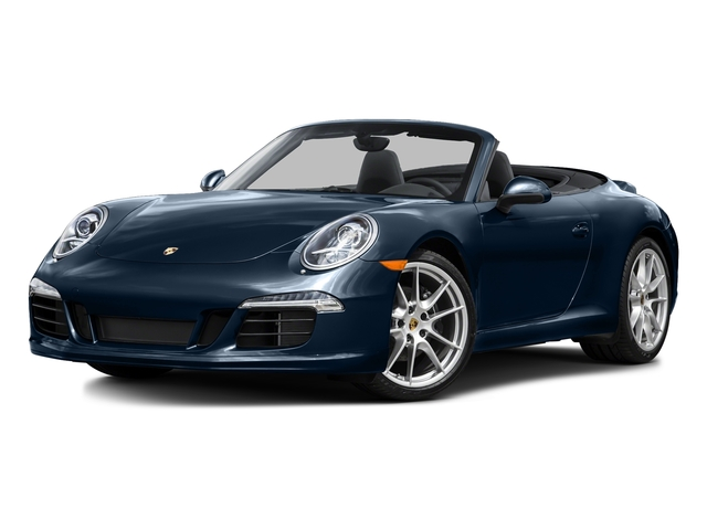 Dark Blue Metallic 2015 Porsche 911 Pictures 911 Cabriolet 2D H6 photos front view