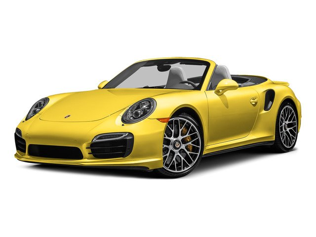 Racing Yellow 2015 Porsche 911 Pictures 911 Cabriolet 2D S AWD H6 Turbo photos front view