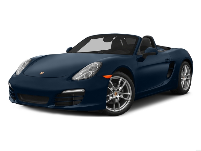 Dark Blue Metallic 2015 Porsche Boxster Pictures Boxster Roadster 2D H6 photos front view