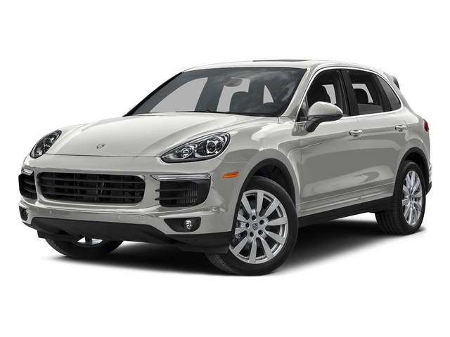 White 2015 Porsche Cayenne Pictures Cayenne Utility 4D AWD V8 Turbo photos front view