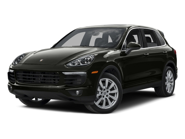 Jet Black Metallic 2015 Porsche Cayenne Pictures Cayenne Utility 4D AWD V8 Turbo photos front view