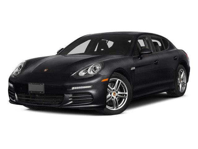 Black 2015 Porsche Panamera Pictures Panamera Hatchback 4D 4 AWD H6 photos front view