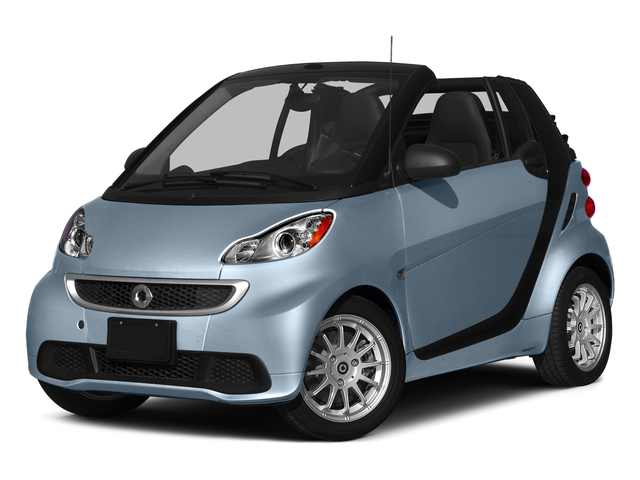 Light Blue Metallic 2015 smart fortwo Pictures fortwo Convertible 2D Passion I3 photos front view