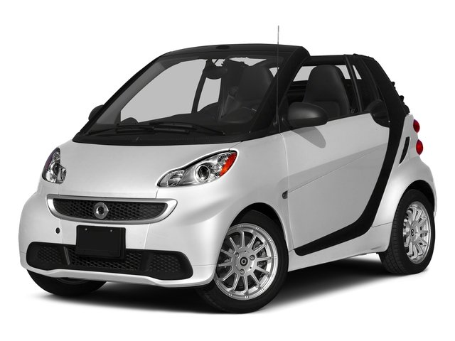 Crystal White 2015 smart fortwo Pictures fortwo Convertible 2D Passion I3 photos front view