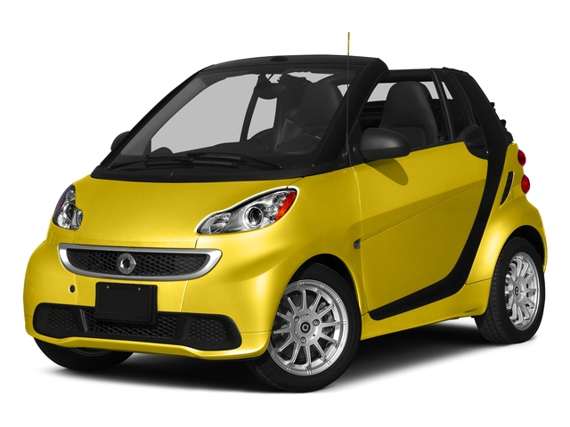 Clear Flame Yellow 2015 smart fortwo Pictures fortwo Convertible 2D Passion I3 photos front view