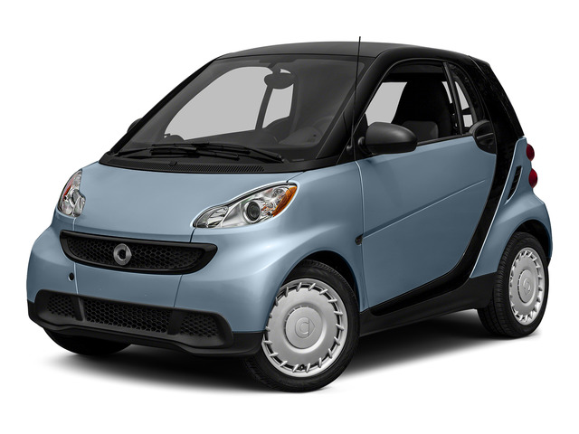 Light Blue Metallic 2015 smart fortwo Pictures fortwo Coupe 2D Pure I3 photos front view