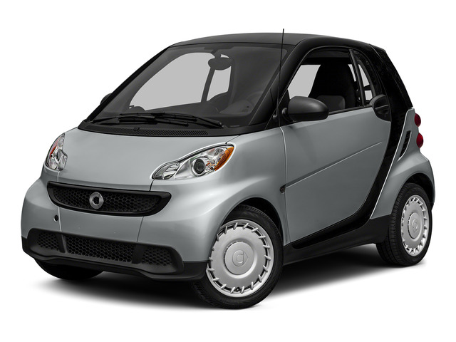 Silver Metallic 2015 smart fortwo Pictures fortwo Coupe 2D Pure I3 photos front view
