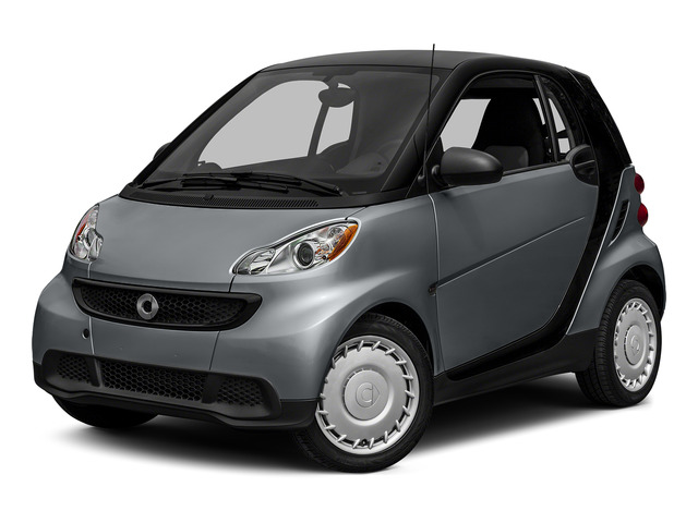 Gray Matte 2015 smart fortwo Pictures fortwo Coupe 2D Passion I3 photos front view