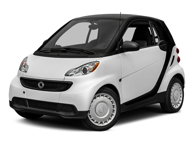 Crystal White 2015 smart fortwo Pictures fortwo Coupe 2D Pure I3 photos front view