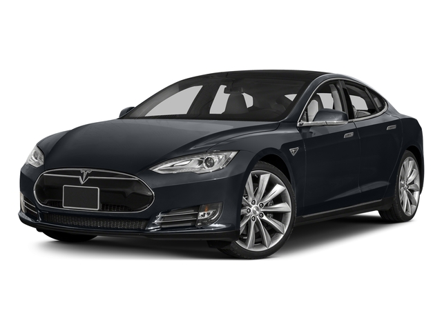 Midnight Silver Metallic 2015 Tesla Motors Model S Pictures Model S Sedan 4D D AWD Electric photos front view