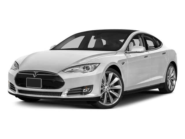 Solid White 2015 Tesla Motors Model S Pictures Model S Sedan 4D D AWD Electric photos front view