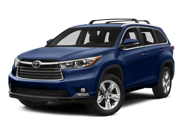 Nautical Blue Metallic 2015 Toyota Highlander Pictures Highlander Utility 4D LE 2WD I4 photos front view