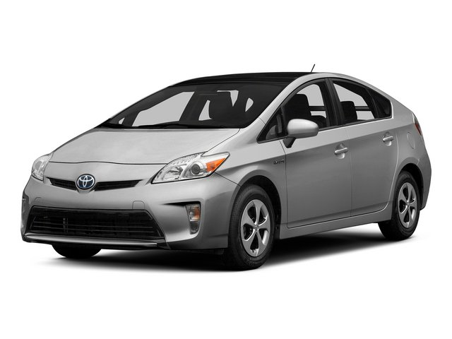 Classic Silver Metallic 2015 Toyota Prius Pictures Prius Liftback 5D Five I4 Hybrid photos front view