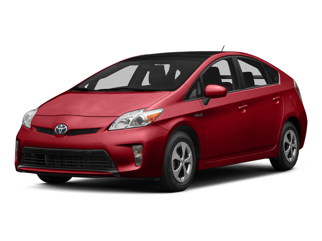 Barcelona Red Metallic 2015 Toyota Prius Pictures Prius Liftback 5D Five I4 Hybrid photos front view
