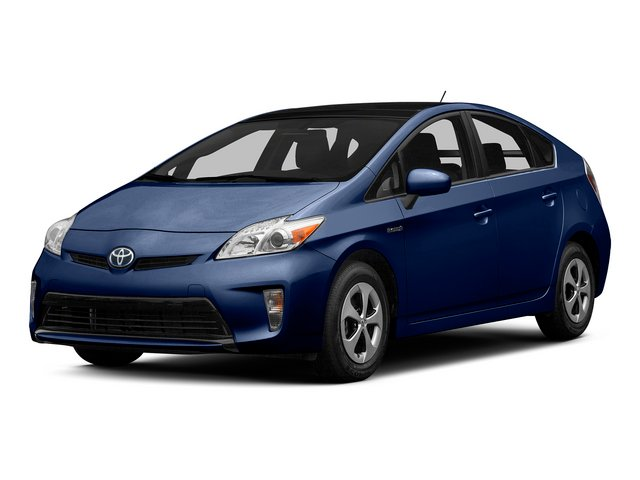 Nautical Blue Metallic 2015 Toyota Prius Pictures Prius Liftback 5D Five I4 Hybrid photos front view