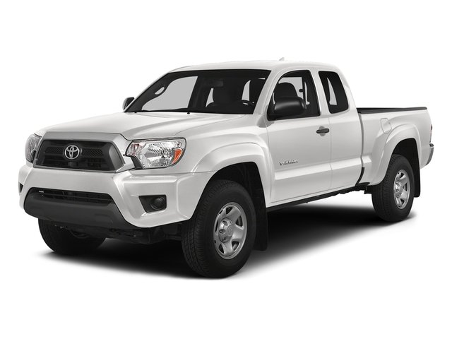 Super White 2015 Toyota Tacoma Pictures Tacoma Base Access Cab 4WD V6 photos front view