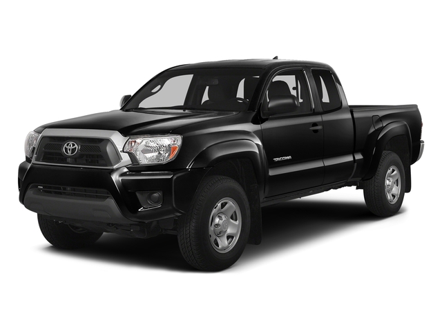 Black 2015 Toyota Tacoma Pictures Tacoma Base Access Cab 4WD V6 photos front view
