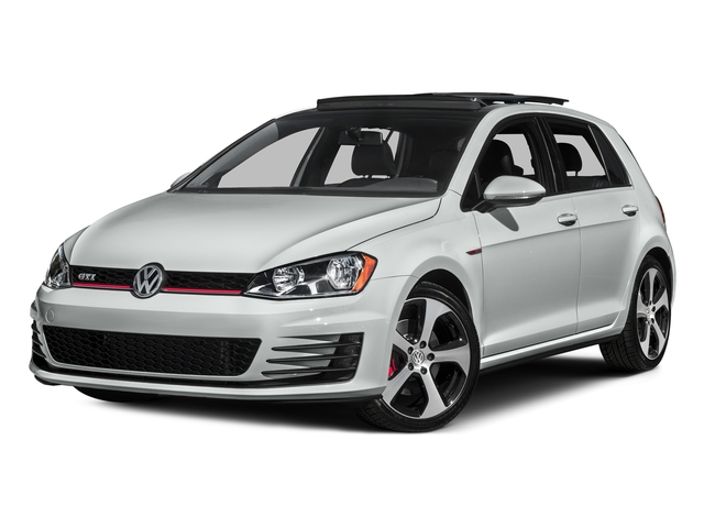Pure White 2015 Volkswagen Golf GTI Pictures Golf GTI Hatchback 4D S I4 Turbo photos front view