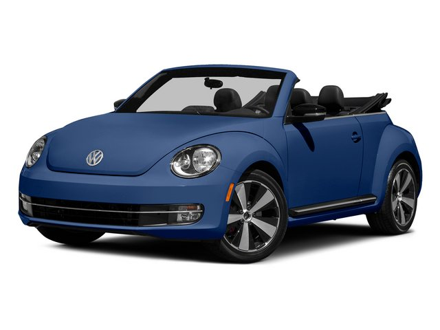 Reef Blue Metallic/Black Roof 2015 Volkswagen Beetle Convertible Pictures Beetle Convertible Convertible 2D R-Line I4 Turbo photos front view