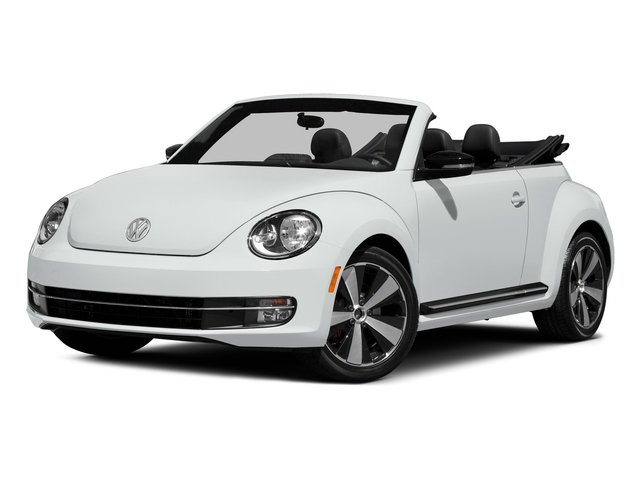 Pure White/Black Roof 2015 Volkswagen Beetle Convertible Pictures Beetle Convertible Convertible 2D TDI I4 photos front view