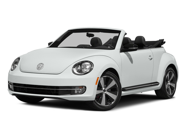 Pure White/Black Roof 2015 Volkswagen Beetle Convertible Pictures Beetle Convertible Convertible 2D R-Line I4 Turbo photos front view