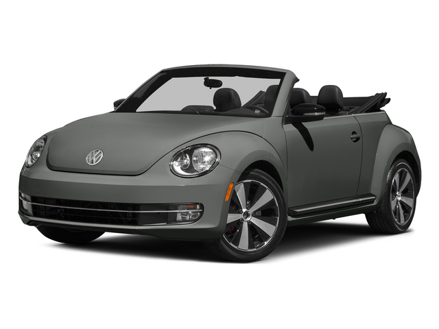 Platinum Gray Metallic/Black Roof 2015 Volkswagen Beetle Convertible Pictures Beetle Convertible Convertible 2D R-Line I4 Turbo photos front view