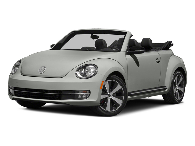 Reflex Silver Metallic/Black Roof 2015 Volkswagen Beetle Convertible Pictures Beetle Convertible Convertible 2D TDI I4 photos front view