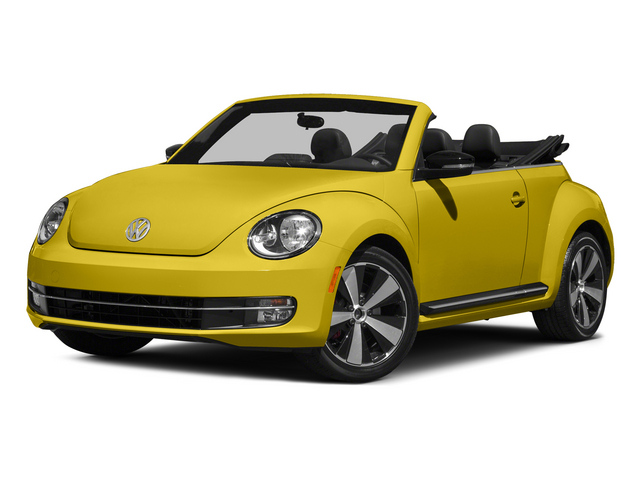 Yellow Rush/Black Roof 2015 Volkswagen Beetle Convertible Pictures Beetle Convertible Convertible 2D TDI I4 photos front view