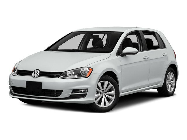 Pure White 2015 Volkswagen Golf Pictures Golf Hatchback 4D TDI SE I4 Turbo photos front view