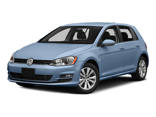 Silk Blue Metallic 2015 Volkswagen Golf Pictures Golf Hatchback 4D SEL I4 Turbo photos front view