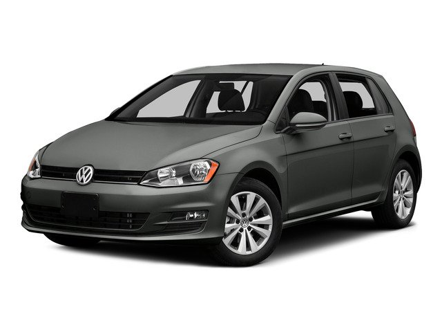 Platinum Gray Metallic 2015 Volkswagen Golf Pictures Golf Hatchback 4D SEL I4 Turbo photos front view