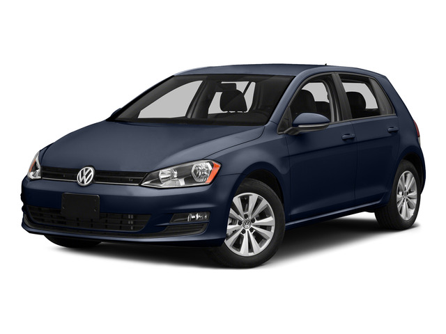 Night Blue Metallic 2015 Volkswagen Golf Pictures Golf Hatchback 4D SEL I4 Turbo photos front view