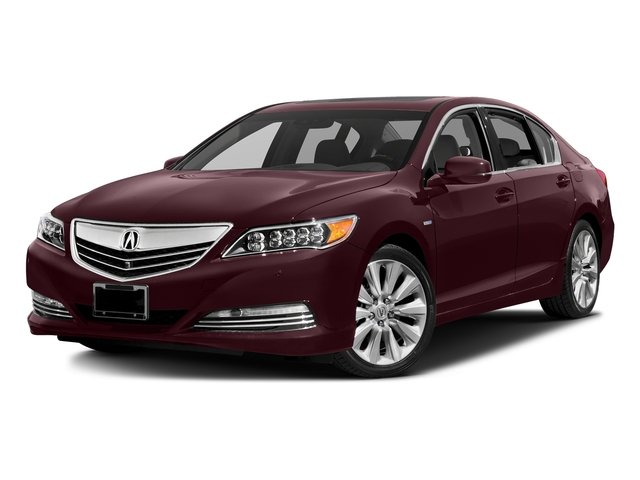 Pomegranate Pearl 2016 Acura RLX Pictures RLX Sedan 4D Advance AWD V6 Hybrid photos front view