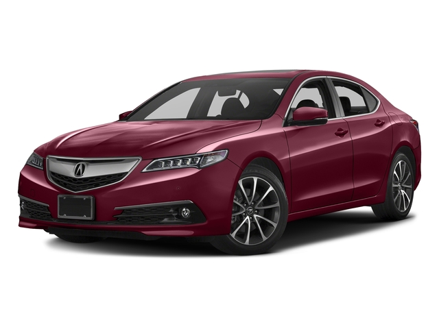 Basque Red Pearl II 2016 Acura TLX Pictures TLX Sedan 4D Advance V6 photos front view