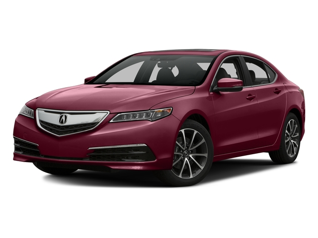 Basque Red Pearl II 2016 Acura TLX Pictures TLX Sedan 4D Technology AWD V6 photos front view