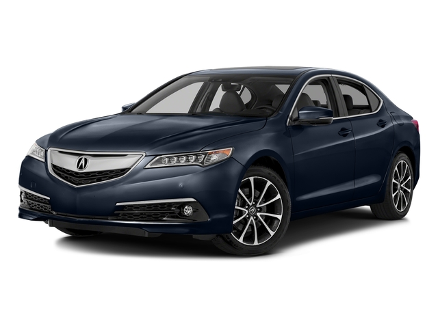 Fathom Blue Pearl 2016 Acura TLX Pictures TLX Sedan 4D Advance AWD V6 photos front view