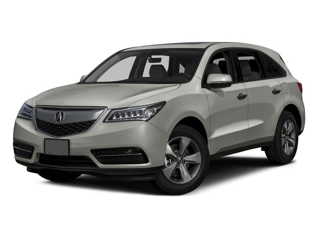 Lunar Silver Metallic 2016 Acura MDX Pictures MDX Utility 4D AWD V6 photos front view
