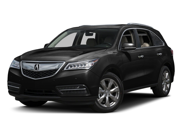 Crystal Black Pearl 2016 Acura MDX Pictures MDX Utility 4D Advance AWD V6 photos front view