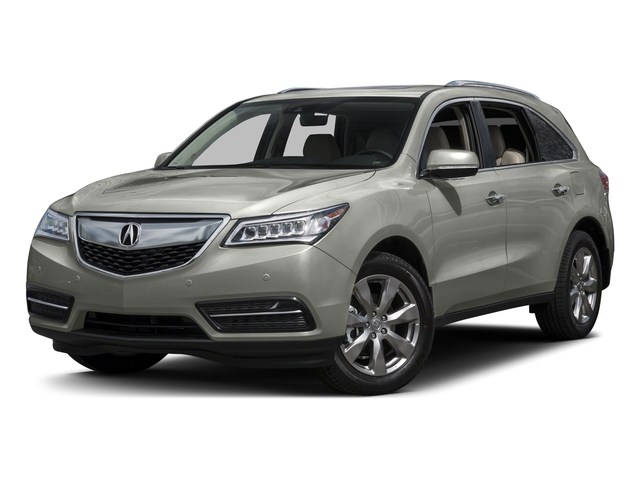 Lunar Silver Metallic 2016 Acura MDX Pictures MDX Utility 4D Advance AWD V6 photos front view