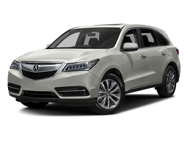 Lunar Silver Metallic 2016 Acura MDX Pictures MDX Utility 4D Technology DVD 2WD V6 photos front view